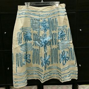 Linen A-line skirt new without tags